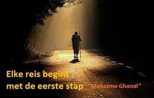 Elke reis begint met de eerste stap