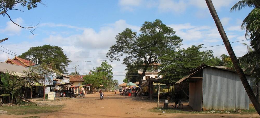 platteland bij Siem Reap en Angkor Cambodja