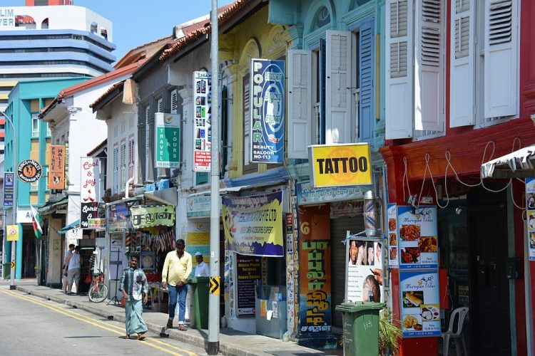 straatbeeld Little India Singapore