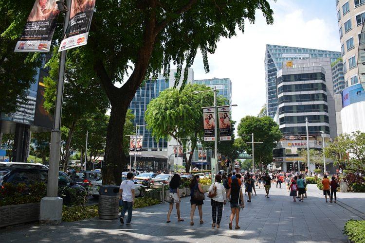 winkelend publiek Orchard Road Singapore