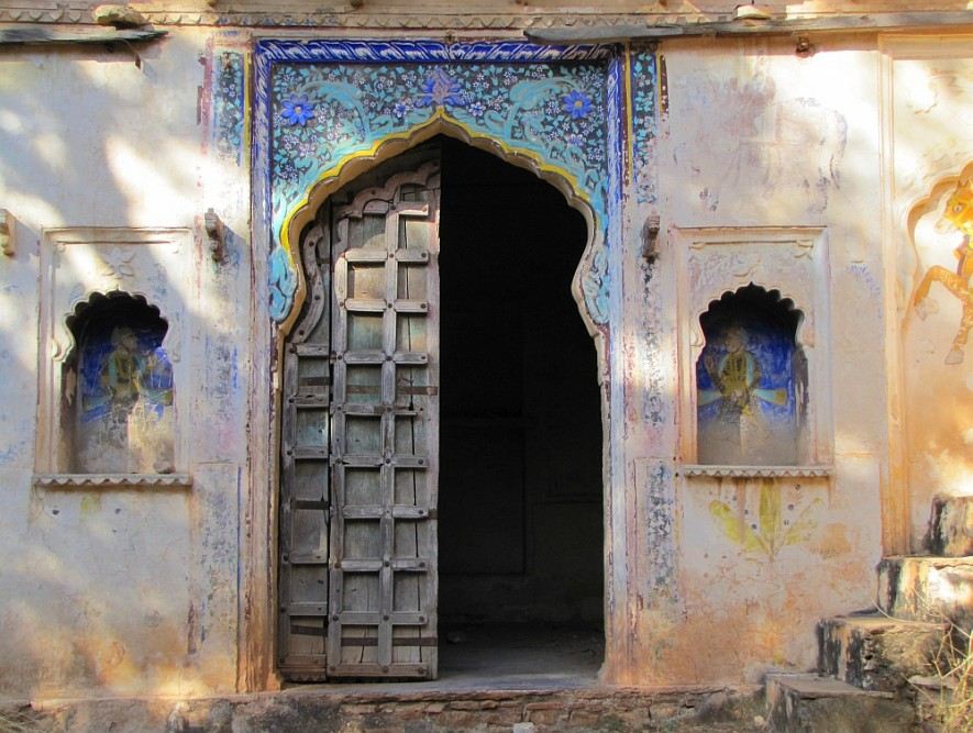 route door Rajasthan paleis in Bundi