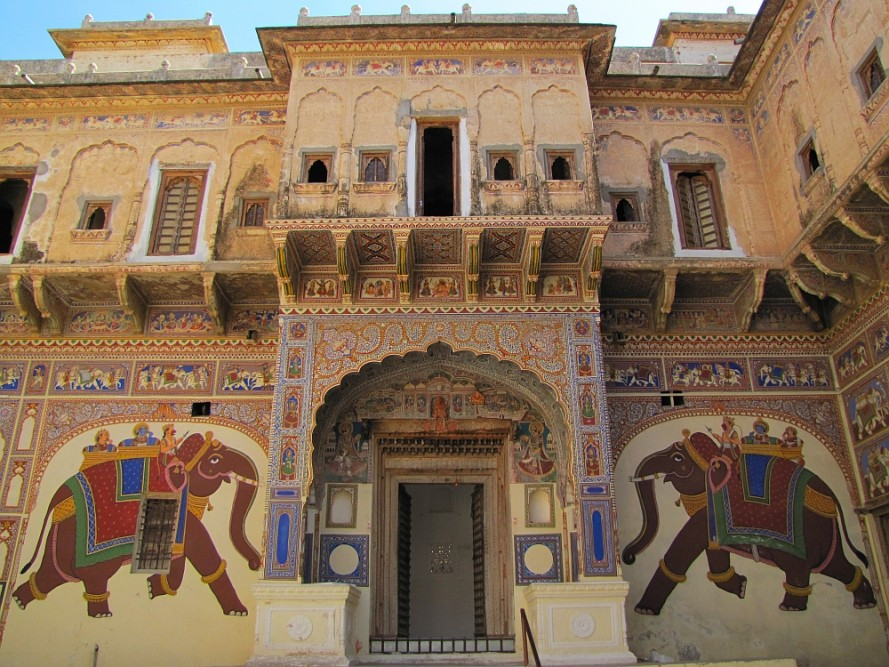route door Rajasthan haveli