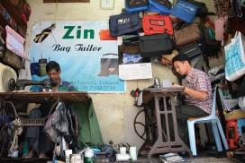 straatleven Yangon
