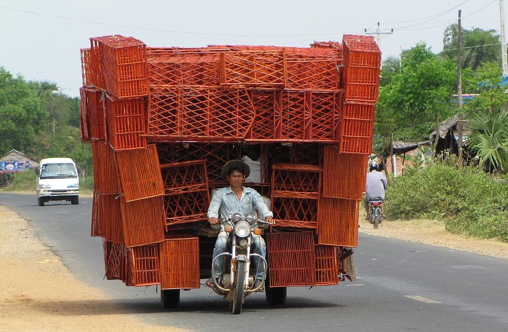 langs de weg Cambodja