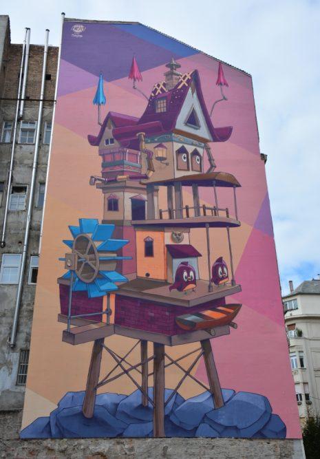 weekend Boedapest streetart Boedapest