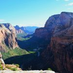 duurzaam reizen, wandelen in Zion national Park