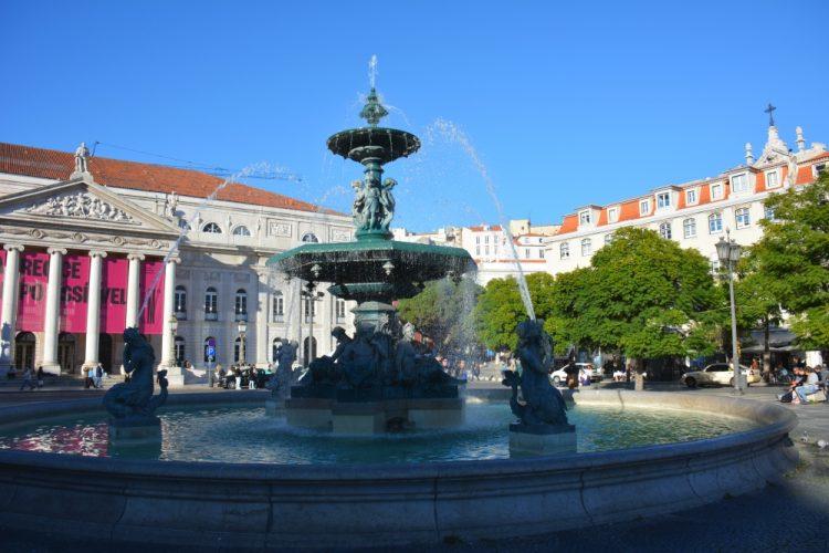 fontein in Lissabon