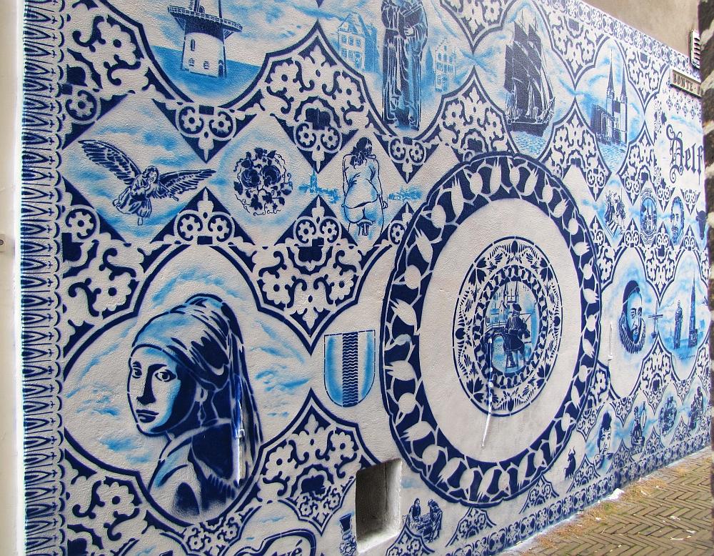 Delfts blauw Street Art
