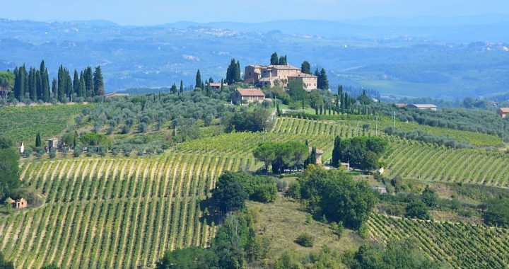 wandelen rond San Gimignano