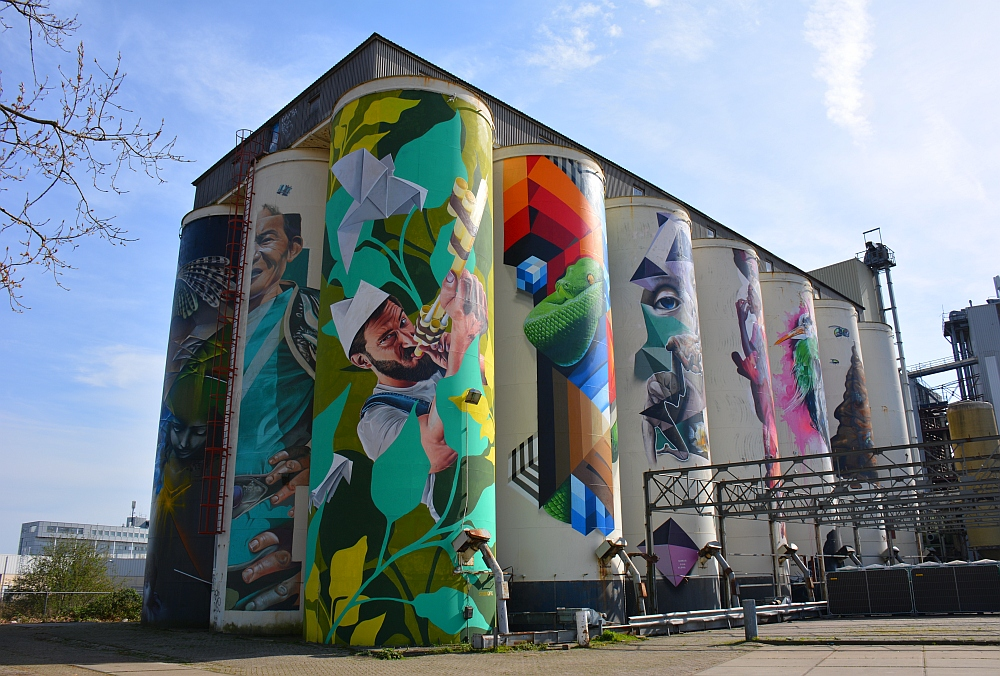 Den Bosch graffiti Verkadeterrein silo's