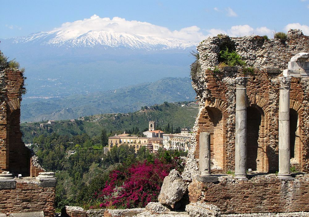 Etna vulkaan vanuit Taormina