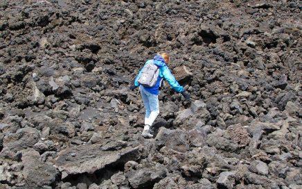 wandelen op de Etna vulkaan
