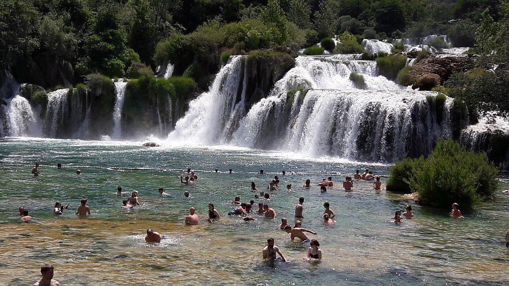 zwemmen Krka nationaal park