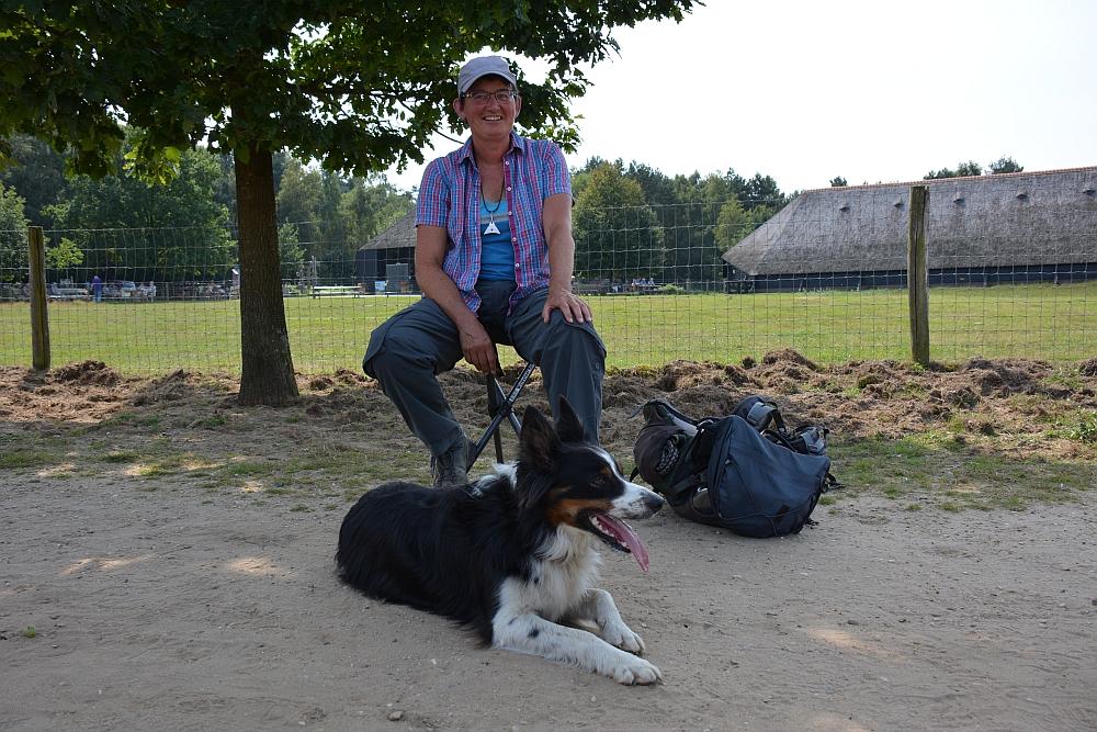 schaapherder Marion Derks en hond Benji