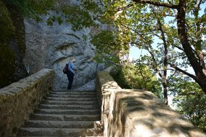 stairs to Ypapanti Meteora