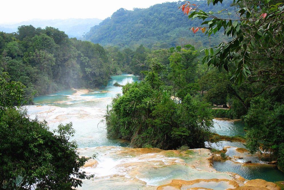Agua azul Mexico