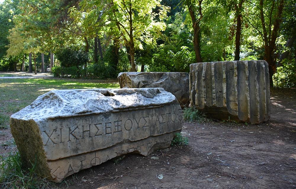 Fietsen in Athene National Garden