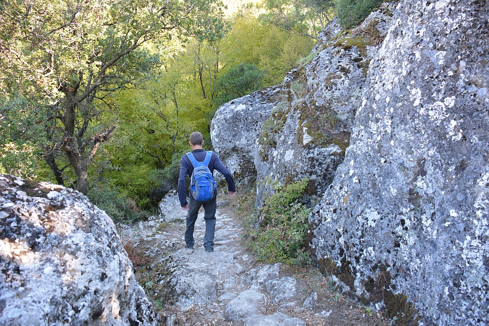 hiking at Meteora Greece