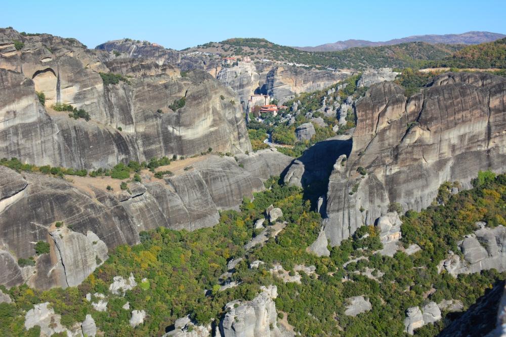 wandelen in Meteora uitzicht Holy Trinity