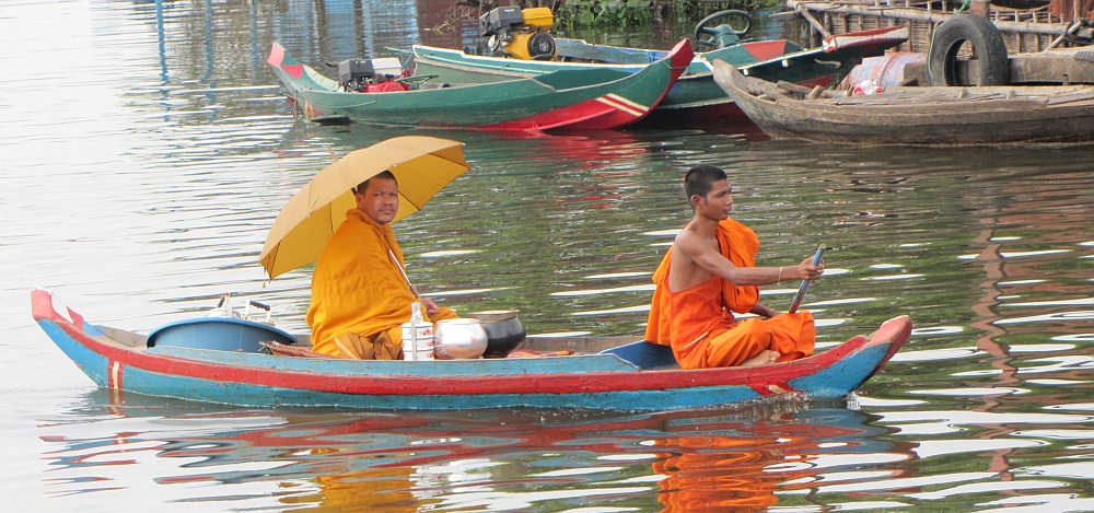 De boot van Siem Reap naar Battambang, slow travel Cambodja