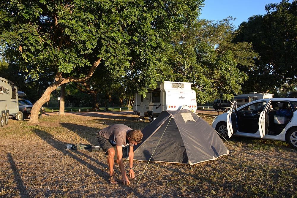 Free camping at Bluewater Australia
