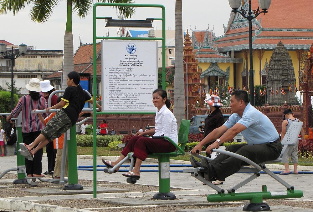 langs de Mekong Phnom Penh
