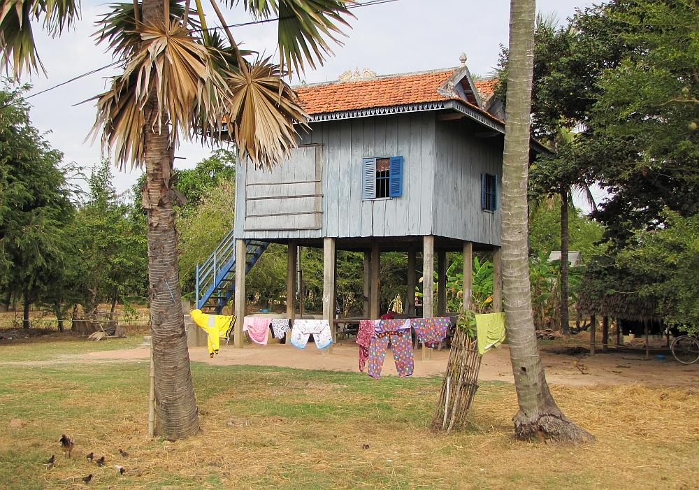 huis op palen Cambodja