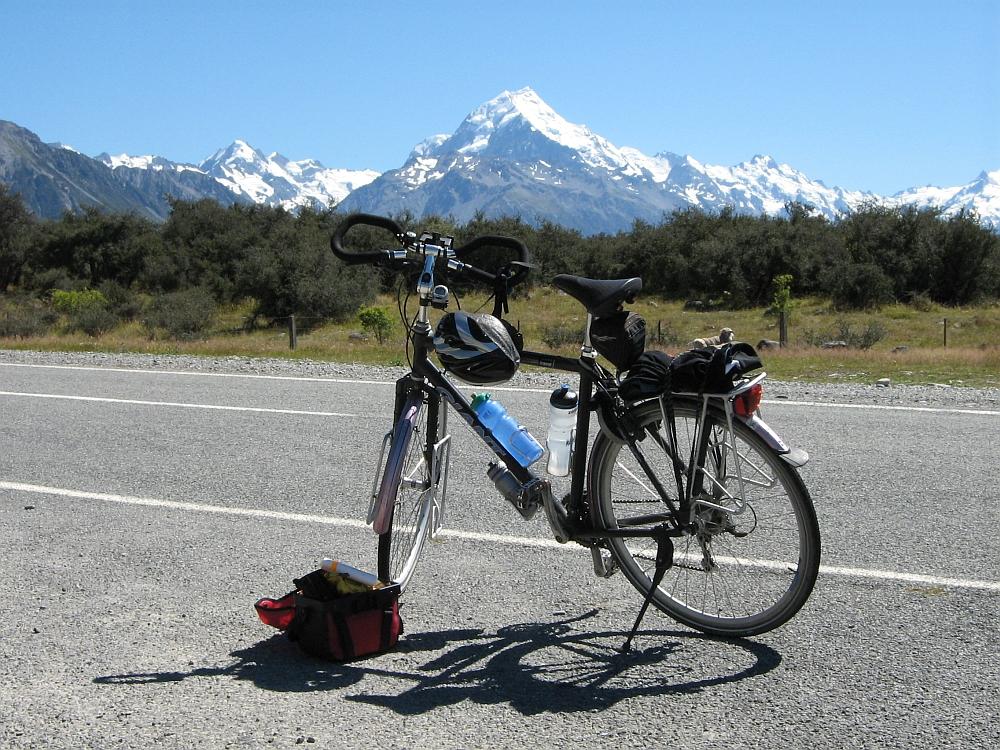 fietsen op het Zuidereiland Nieuw Zeeland