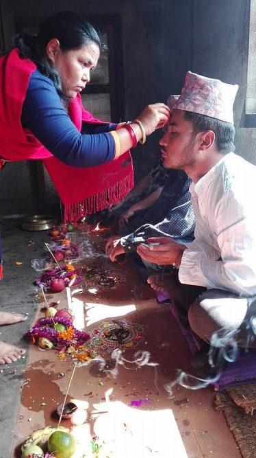Bai tika - broer vereren Nepal
