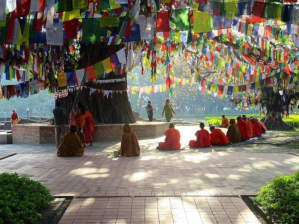 Monniken in Nepal