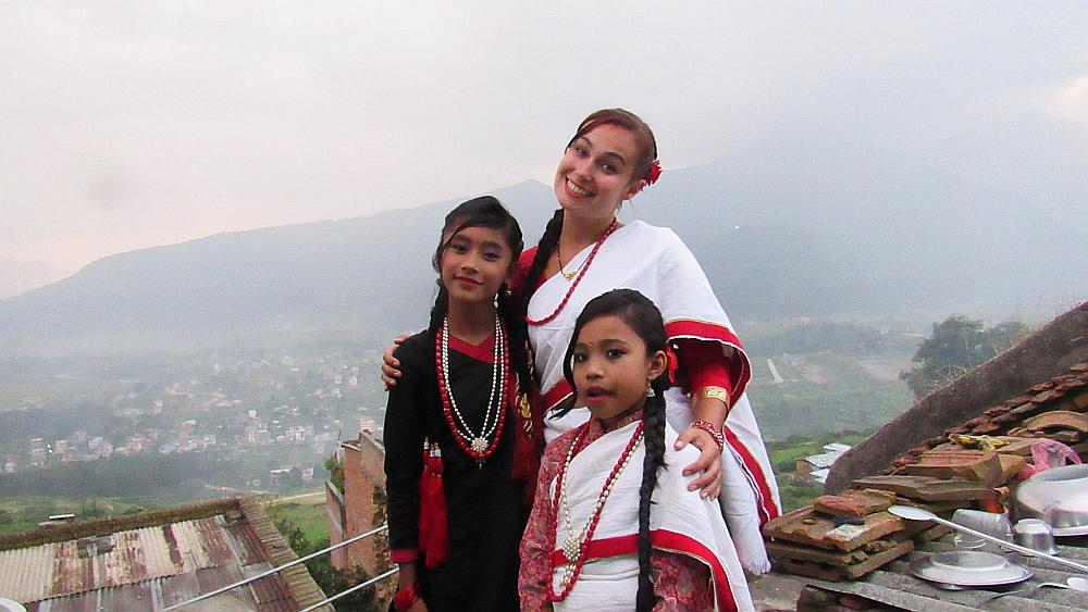 traditionele Newari kleding Nepal