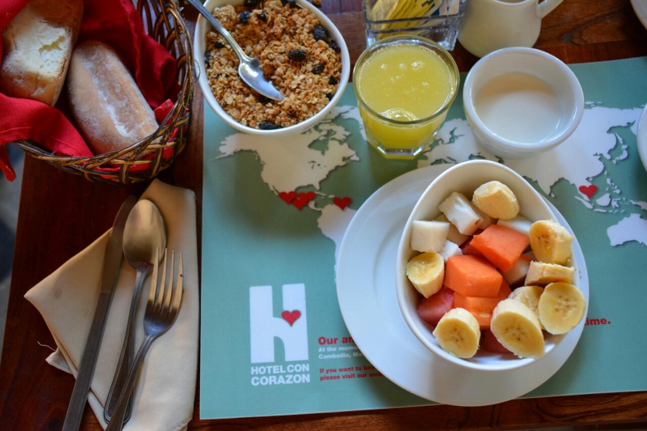 ontbijt reis door Nicaragua. Hotel Con Corazón