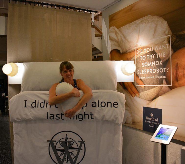 slapen met een robot in het WestCord hotel Delft