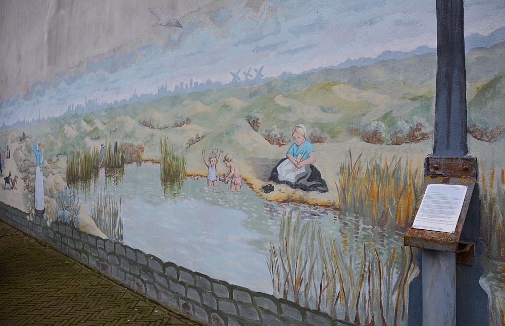 muurschildering Scheveningen dorp