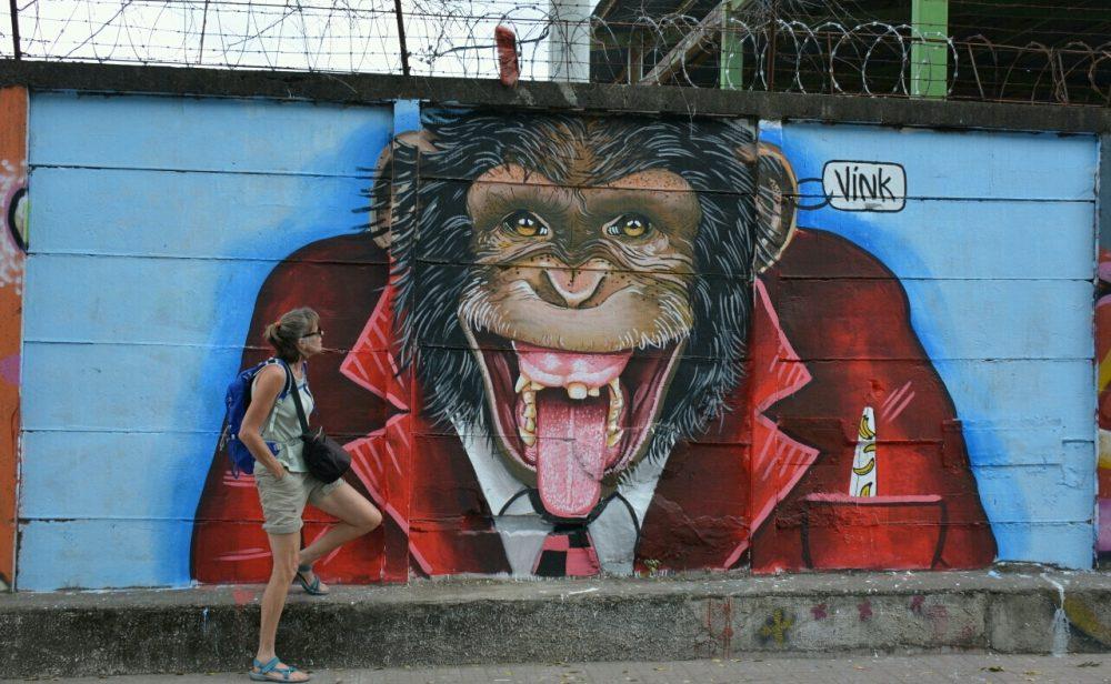 Nicaragua van het gebaande pad streetart Esteli