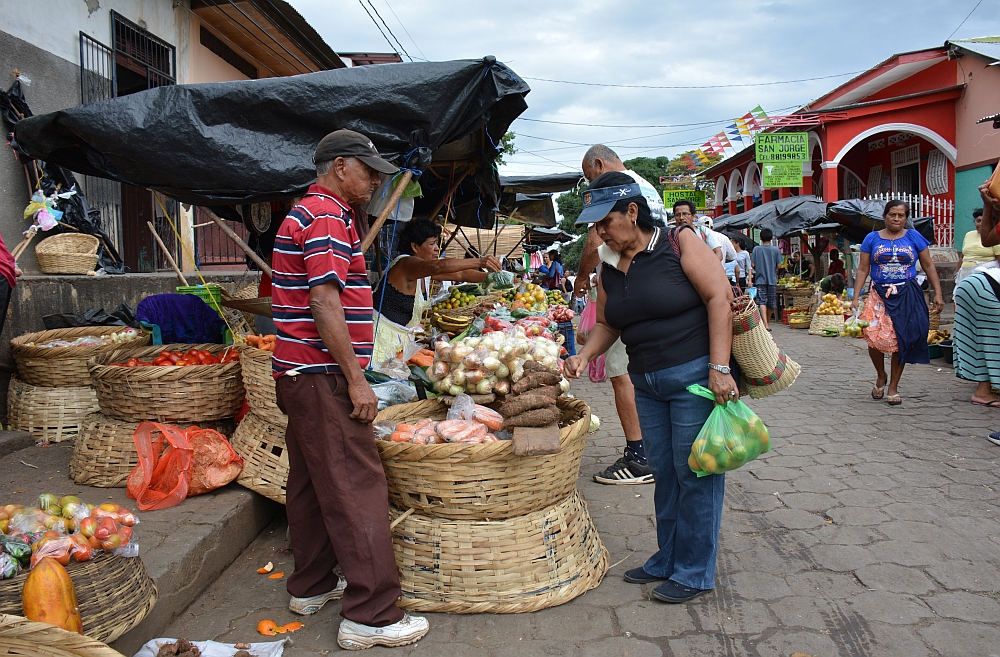 portretten Nicaragua, markt Granada