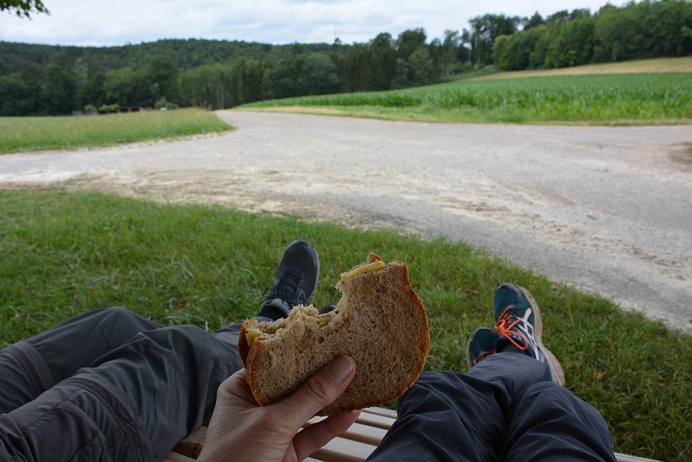 Altmühltal Panoramaweg lunchtime