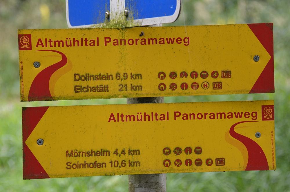 Altmühltal Panoramaweg routebordje