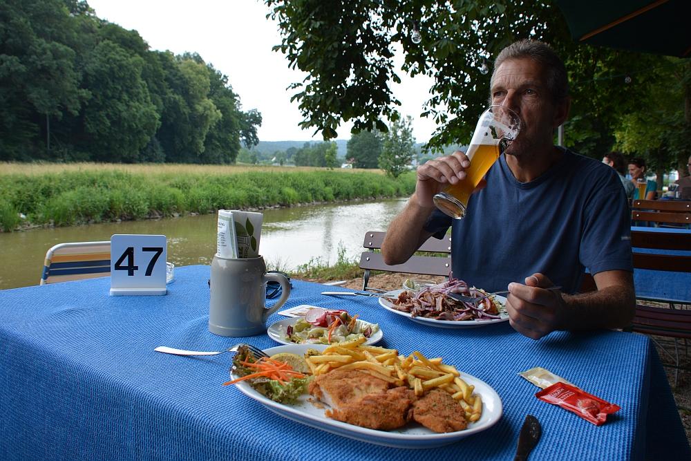biergarten in Treuchtlingen Beieren