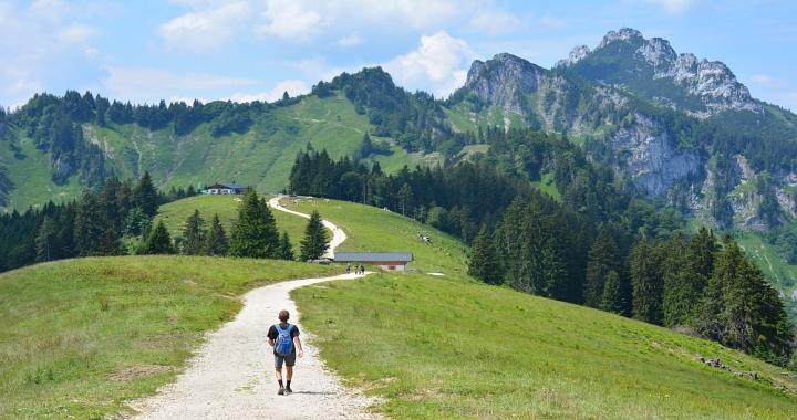 bergwandeling naar Piesenhausener Hochalm en Kampenwand
