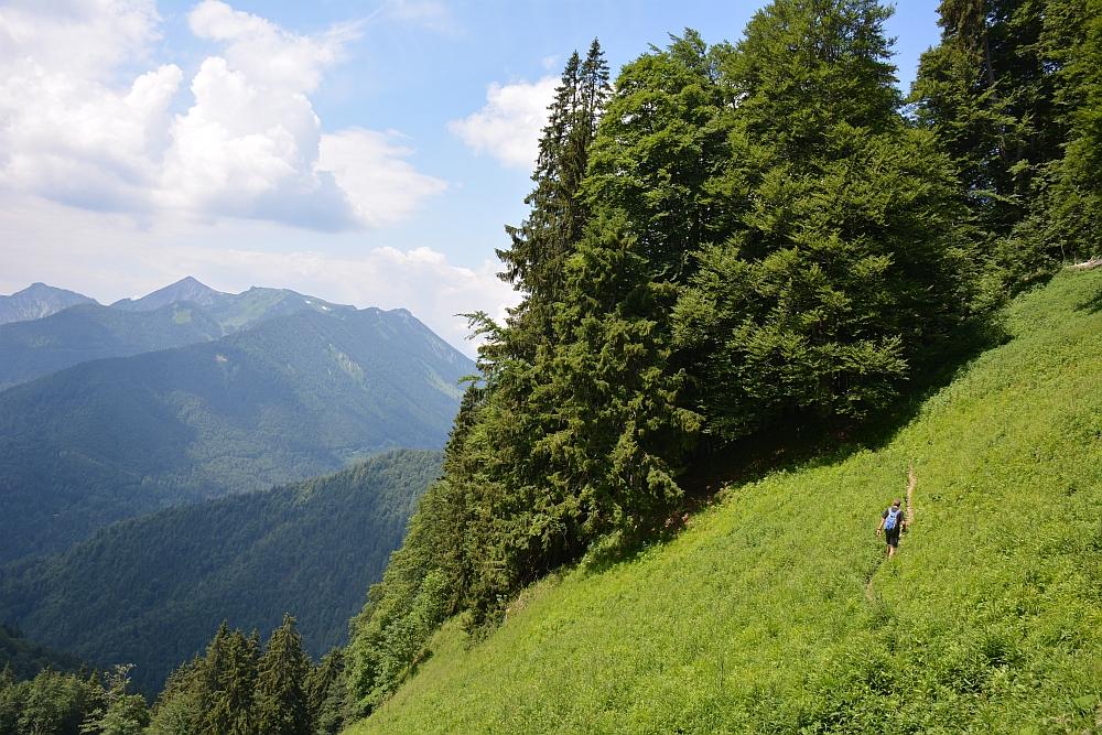 bergwandeling naar de Hochplatte Beierse Alpen