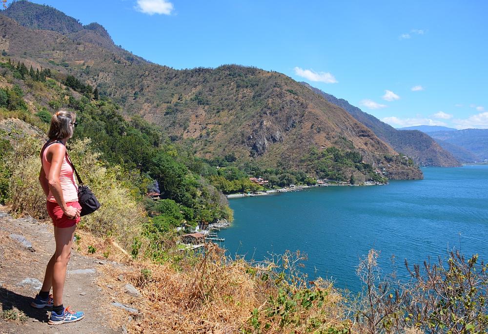meer van Atitlan uitzicht bij Tzununa
