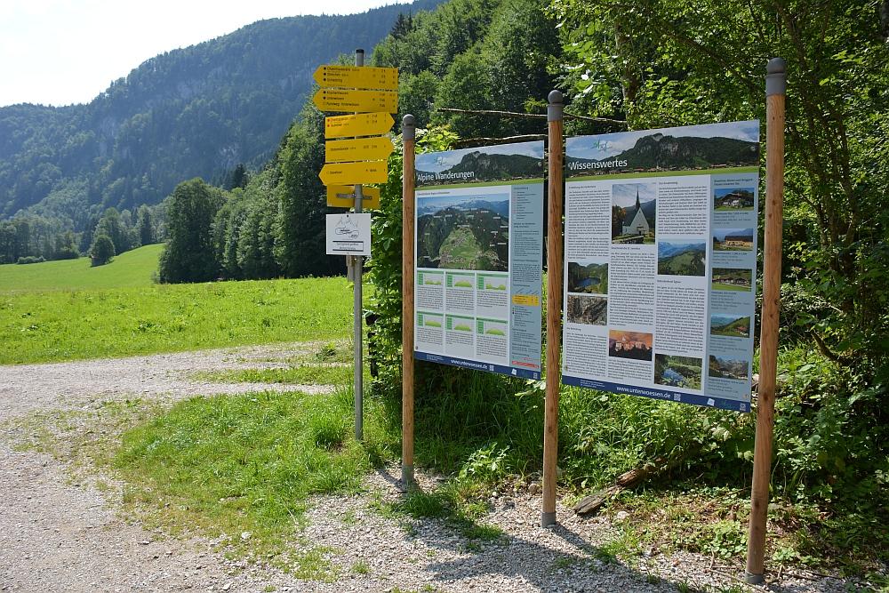 wandelen in de Beierse Alpen informatiebord