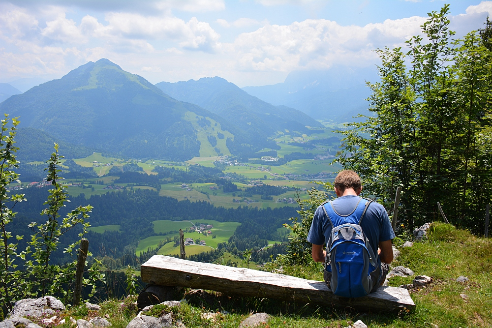 wandelen in de Beierse Alpen uitzichtpunt
