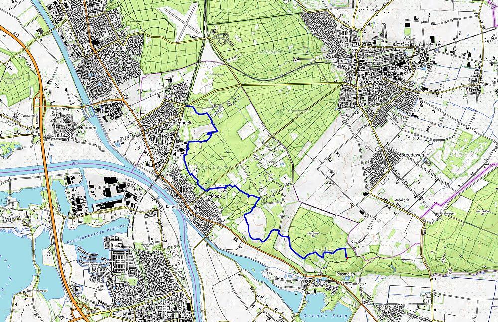 Myfootprints.nl - Walk of Wisdom, Sint Jansberg naar Malden