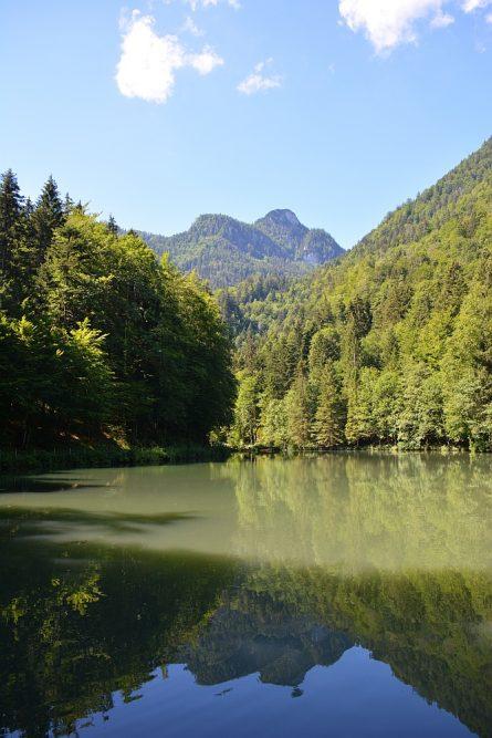 Smokkelaarsroute in de Beierse Alpen Rudersburger See
