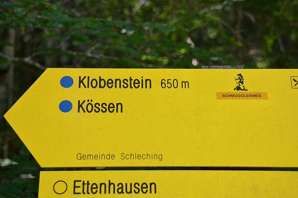 Smokkelaarsroute in de Beierse Alpen routebordje