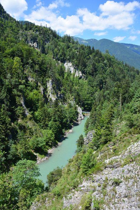 Smokkelaarsroute in de Beierse Alpen uitzicht over de Tiroler Achen
