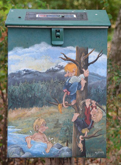 Walk of Wisdom van Hernen naar Winssen brievenbus