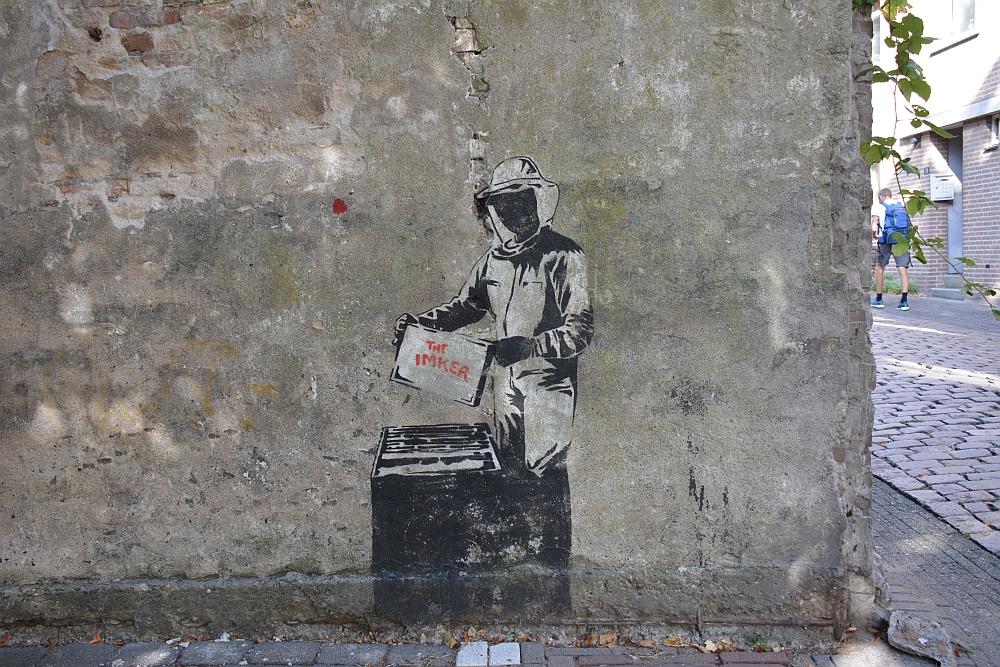 Walk of Wisdom van Nijmegen naar Groesbeek streetart Imker